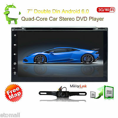 "Android 6.0 7"" Double 2Din Car Radio Stereo DVD Player GPS Nav OBD BT 4G WiFi"