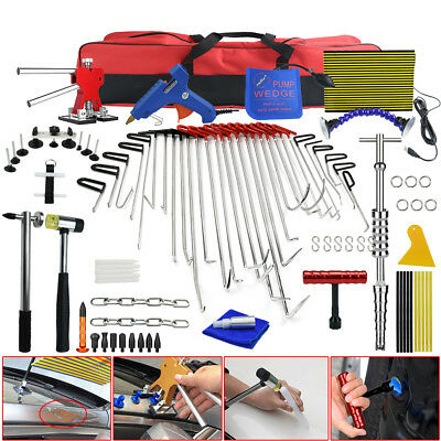 PDR Spring Steel Rods Tools Paintless Dent Repair Hail Ding Removal Puller Kit