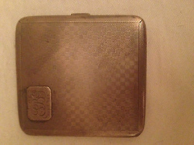 Vintage chrome engine turned Cigarette case