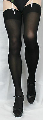 Black Soft Smooth 70 denier  Large Size Opaque Plain top Stocking High Quality