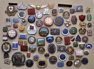Vintage joblot enamel badges NO PINS or fixings great for mounting