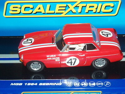 Scalextric C3488 MGB 1964 Sebring Red Mint Boxed
