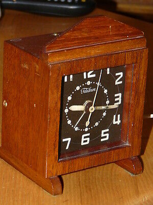 Vintage Electric TELECHRON Wooden Wood Alarm Clock
