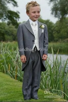 Boy's Tuxedos Wedding Sutis Bridesmaid Flower Children Dress Suits Formal Blazer