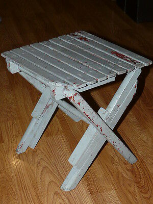Old Vintage - Small Folding Stool ... Children - Fishing - Camping
