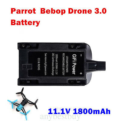 1.1V 1800mAh High Capacity RC Battery for Parrot Bebop Drone 3.0 FPV Replacement