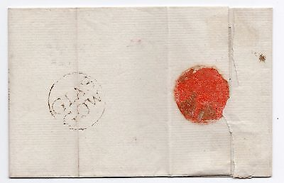 1798 Scots wrapper only early Glasgow double line in circle pmk to Campbeltown.