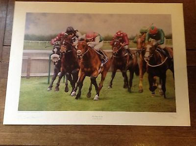 Limited Edition Print 243/ 250 The Race Is On By Max Brandrett