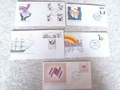 5  x Australian First Day Covers 150 years Western / South Australia