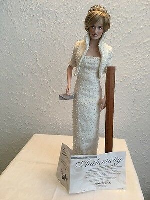 Franklin Mint Diana Princess Of Wales Porcelain Portrait