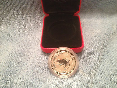 "Australia 2004 ""Year of the MONKEY ""1/2 oz .999 Solid  Silver Coin with case"