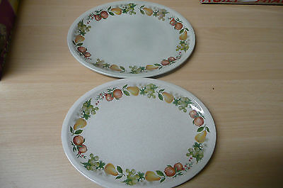 """Wedgewood """"quince Design. Two Oval Plates. (12"""" X 91/4""""). ( 113/4"""" X 9"""")."""
