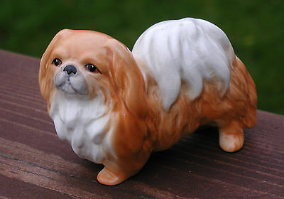 Vintage Sylvac Porcelain Cute Pekingese Dog Figure Numbered 3165