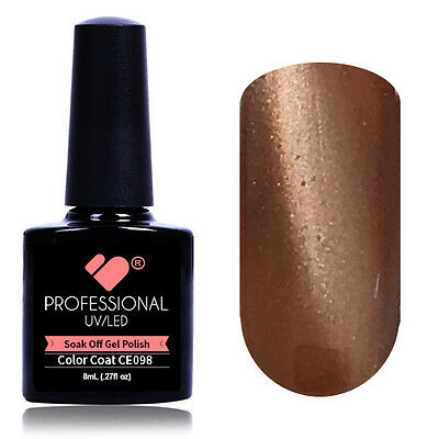 """CE098"" VB® Line Cat Eye Brown Metallic UV/LED Soak Off Nail Colour Gel Polish"