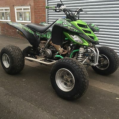 yamaha raptor 660 road legal full widened and jetted