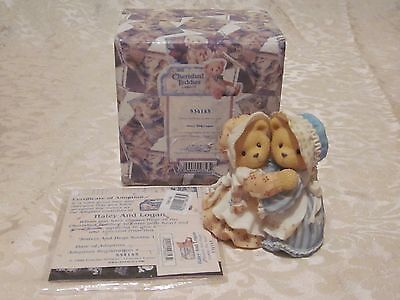 Cherished Teddies,haley & Logan,sisters & Hugs Smoothe The Soul,new, Box,papers