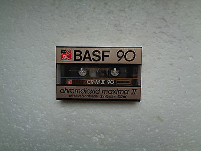 Vintage Audio Cassette BASF CR-M II 90 * Rare From Germany 1985 *