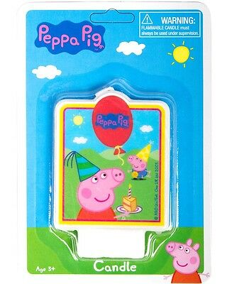 Peppa Pig Candle Birthday Cake Decoration Favors