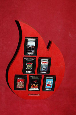 Zippo Flame Vetrina Movies - The Warriors/Blues Brothers/Beverly Hills Cop/Jaws