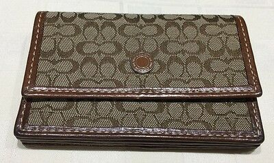 coach Multi Pocket card holder - Signature - Brown