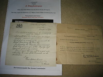 WW1 Casualty (iRAQ) Medal Transmission Document RAMC