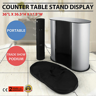 Podium Table Counter Stand Trade Show Display Portable Oval Bean Exhibition