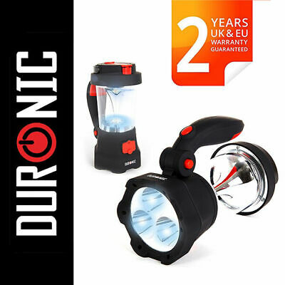 Duronic Hurricane 4 in 1 Rechargeable Wind-Up Camping LED Lamp Lentern Torch USB
