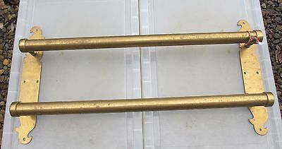Victorian Brass Door Handle Push Pull Bar Architectural Antique Vintage Old Shop
