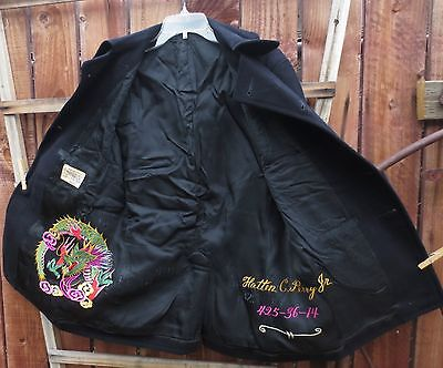 Peacoat - Naval Clothing Factory Sz 36 - Dragon embroidery - 10-button  Vintage