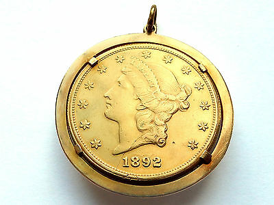 1892-S United States Liberty Head Double Eagle Gold Twenty Dollar Piece $20