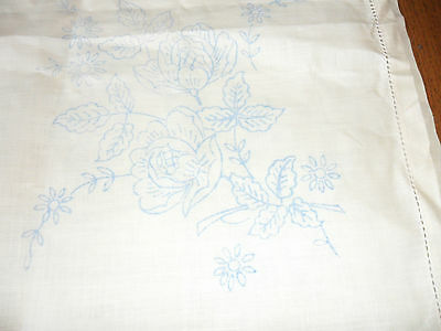 Vintage Linen printed tablecloth to Embroider unused