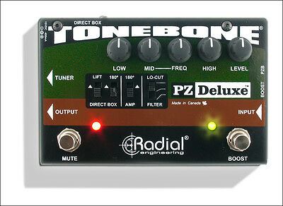 Radial Engineering ToneBone PZ-Deluxe Acoustic Guitar Pre-Amp Pedal / Processor