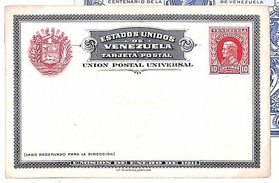 S297 1911 Venezuela Foreign Postal Stationery {samwells-covers}PTS