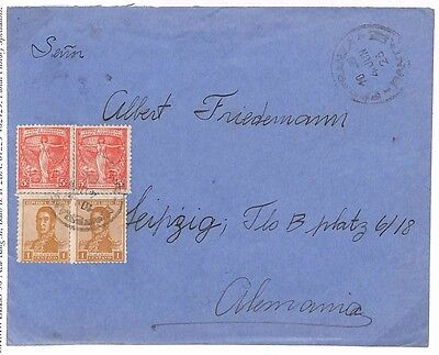 S298 1923 Argentina Cover {samwells-covers}PTS