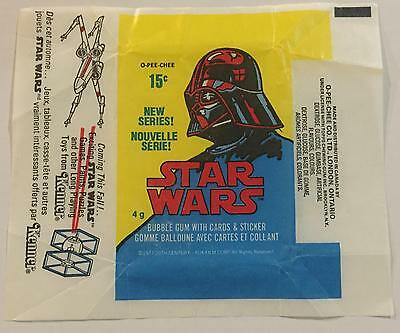 Star Wars Series 2 OPC Trading Card Wax Wrapper Vintage 1977 O-Pee-Chee