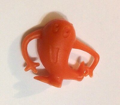 R&l Cereal Toy ~ Crater Critters ~ Clever Critter ~ Orange ~1968 Aussie Kelloggs