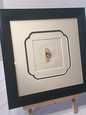 Winnie the Pooh Carrying Honey Pot I Framed Etching Disney Sm Paper Signed #1956