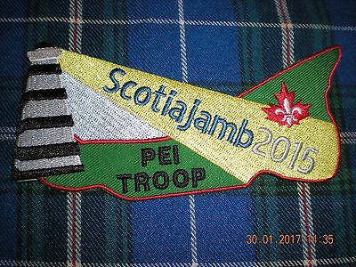 boy scouts Canada Scotiajamb 2015 PEI Troop badge patch