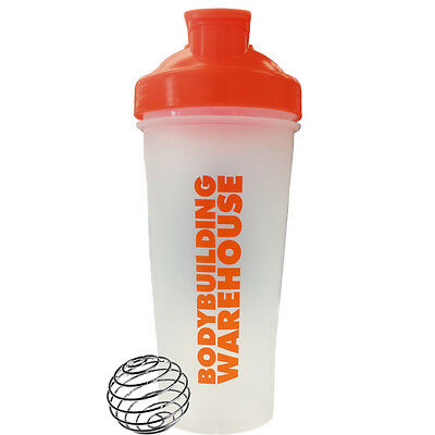 BODYBUILDING WAREHOUSE™ 600ml PROTEIN SHAKER BLENDER MIXER BOTTLE CUP NUTRITION