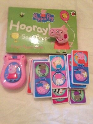 Peppa Pig Toy Bundle Phone Cards Puppet Book
