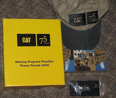 CATERPILLAR TRACTOR 75 yr POWER PARARD 2000 Gift Set Hat Puzzle Pin