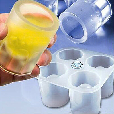Party Bar Drink Ice Cube Tray Cylindrical Ice Frozen Maker Mold Silicone Mould