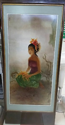 Lee Man Fong Oil Painting 'bali Life 1960S'  李曼峰作品 Artist From Indonesia