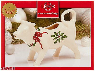 Lenox Holiday Cow Creamer, New in Box 847123