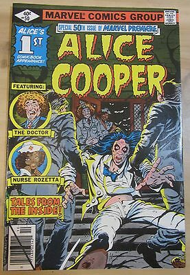 Marvel Premiere #50 ALICE COOPER..Dealer stock/never been read..FREE SHIPPING!!!