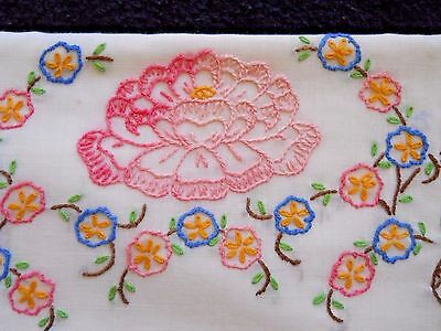 Beautiful VIntage Hand embroidered Hand embroidered pillowcase (3)