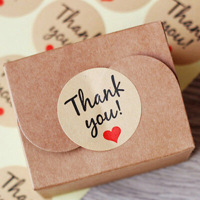60Pcs Creative Round Letter Print Adhesive Kraft Sticker Label Seal For Gift Box