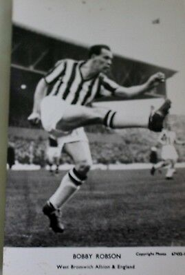 Bobby Robson West Bromwich Albion And Engl  -  Original Real Photograph Postcard
