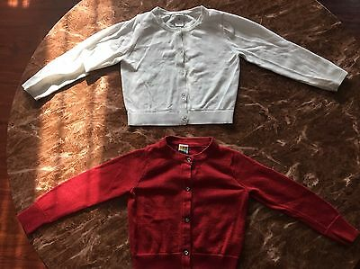 2 Toddler Girl's Cardigan Sweaters Size 4T&5T