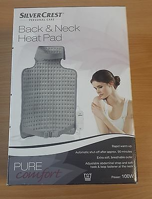Silvercrest ~ Neck & Back heat pad has Automatic power off & 6 heat settings~New